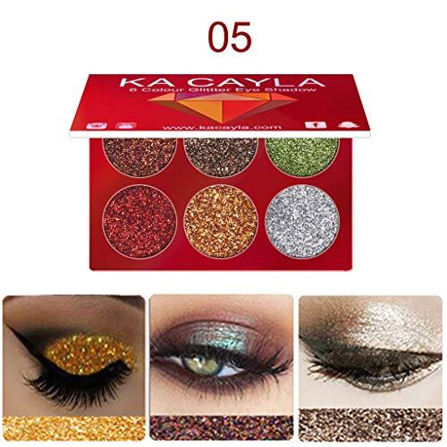 Pallette Fards à Paupière, AMUSTER 10,14,18 couleurs fumé Ombre à paupières de maquillage couleur chaude de Palette Fard À Paupières (Multicolore) (E)