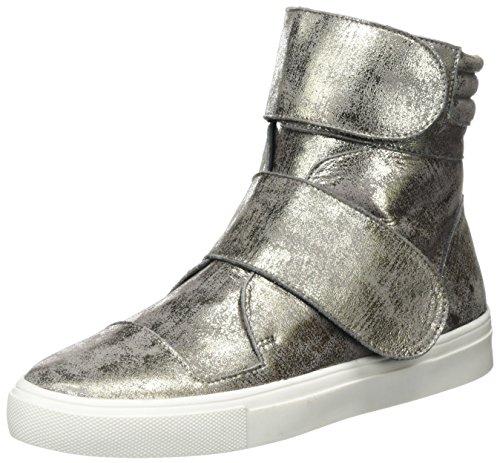 Laurèl Damen Hohe Sneaker, Silber Antik, 37 EU - Laurel Leder