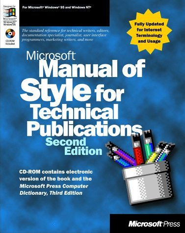MANUAL OF STYLE FOR TECHNICAL PUBLICATIONS par Microsoft