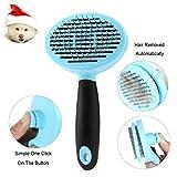 Haustiere Fellpflege Werkzeug Kamm und Bürste für Hunde und Katzen mit Massage und Selbstreinigung Funktionen von Zoe's Choice, Blau