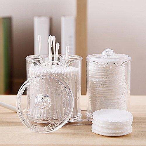 Tupfer Box (Organizer für Kosmetika, für Wattebäusche und Tupfer weiß)