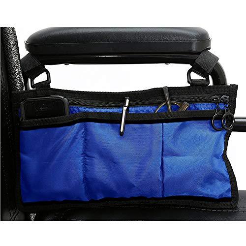 Bolsa lateral para silla de ruedas, bolsa de transporte para scooter eléctrico, bolsa de viaje para accesorios de silla de ruedas, bolsa de almacenamiento lateral