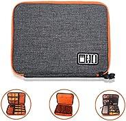 Electronics Organizer Travel Electronics Organizer Waterproof Cable Organiser BagDouble Layer Travel Gadget Ba