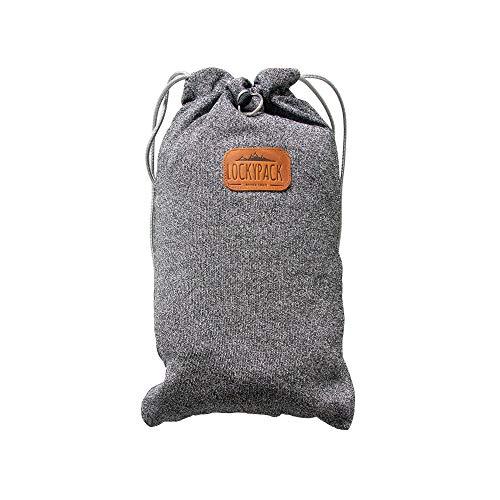 LockypackTM - schnittsicher Anti-Diebstahl Beutel Rucksack mit Zahlenschloss - Diebstahl-Schutz Tasche
