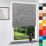 SUNWORLD Aluminium Jalousie nach Maß, hochqualitative Wertarbeit, alle Größen verfügbar, Maßanfertigung, für Fenster und Türen, Decken und Wandmontage (Silber, Höhe: 160cm x Breite: 150cm)