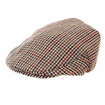 Childrens Tweed Flat Cap In a Range of Sizes (54cm)