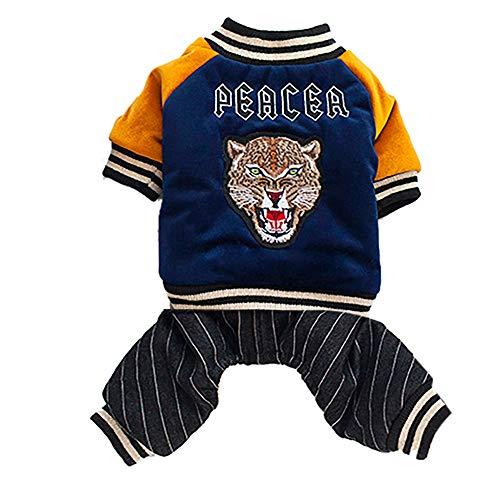 YCGG Hundemantel Kleine Hunde Hunde Wintermantel Katze Hundemantel Jacke Pet Supplies Kleidung Winter Bekleidung Welpen Kostüm(L,Marine)