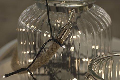 Home&Style Lichterkette 24 LED's, Länge 1,8 m, 50 cm Zuleitungskabel 3x AA Batterie für den Außenbereich mit Timer 6H/18H und 8-Funktionsregler mit Memory im Farbkarton,