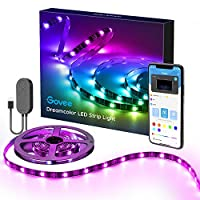 Dreamcolor LED Strip Lights with APP, Govee 6.56ft/2m USB Light Strip Built-in Digital IC, 5050 RGB Strip Lights, Color Changing with Music, Computer Monitor Backlight, Waterproof LED TV Backlight