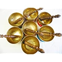 "Royal Kurta F269 Sets of All (7) Chakra Palm Size 5"" Healing Tibetan Singing Bowl Made in Nepal preisvergleich bei billige-tabletten.eu"