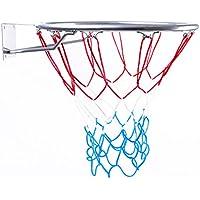 Canasta Outdoor | Canasta de baloncesto infantil para habitaciones, Anillo con Red, color plata, diámetro 45cm