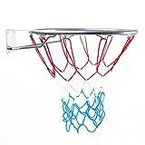 BESTIF Basketballkorb Outdoor Kinder | Basketball Korb fürs Zimmer | Ring mit Netz | Silber Farbe | Durchmesser 45cm