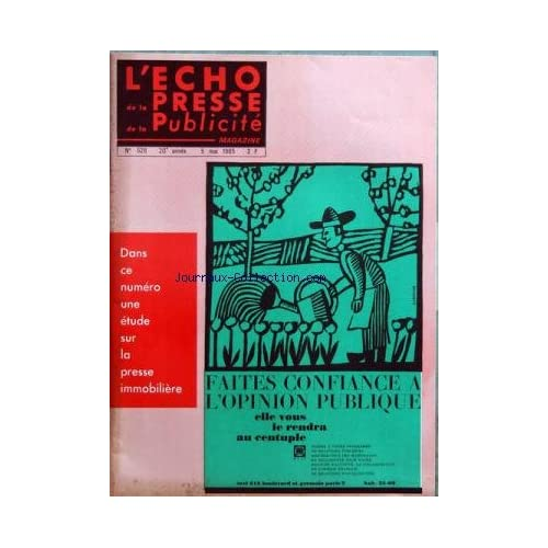ECHO DE LA PRESSE DE LA PUBLICITE ET DES RELATIONS PUBLIQUES (L') [No 528] du 05/05/1965