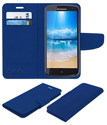 Acm Mobile Leather Flip Flap Wallet Case for Lenovo S920 Mobile Cover Blue  available at amazon for Rs.369