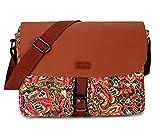 BAOSHA Damen Umhängetasche Schultertasche Cross Body Messenger Bag Fit für 14 Zoll Laptop MS-01 (Mehrfarbig)