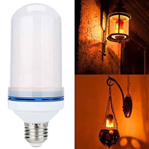 s Zwiebeln E27 Upxiang Removable Flamme Licht LED Flamme Feuer Lichteffekt Dekoration Lampe (Weiß) (Die Zwiebel Halloween Dekoration)