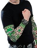 jour de la St Patrick Tatouage manche IRLANDAIS ACCESSOIRE COSTUME ADULTES Ireland déguisement