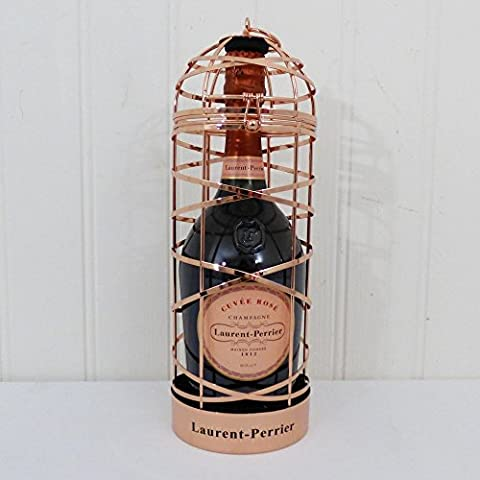 Laurent-Perrier Rose Champagne Presented in a Decorative Bird Cage with Bottle Stopper - Ideas for Birthday, Anniversary and