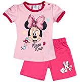 Minnie Mouse Kollektion 2018 T-Shirt und Kurze Hose 56 62 68 74 80 86 92 Shirt Shorts Mädchen Maus Set Rosa (Rosa, 56-62)