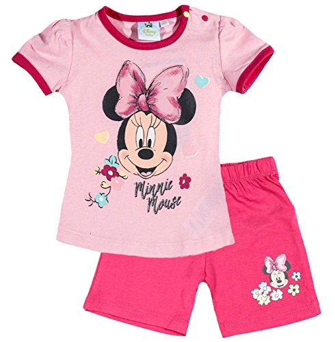 ion 2018 T-Shirt und Kurze Hose 56 62 68 74 80 86 92 Shirt Shorts Mädchen Maus Set Rosa (Rosa, 86-92) (Minnie Kleid Für Kleinkinder)