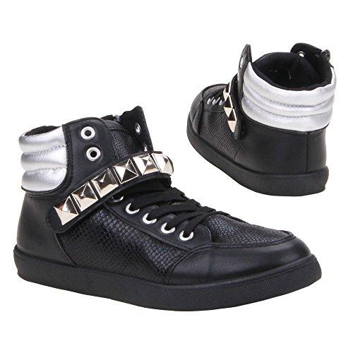 Ital-design kA - 15308B, chaussures Noir - Noir