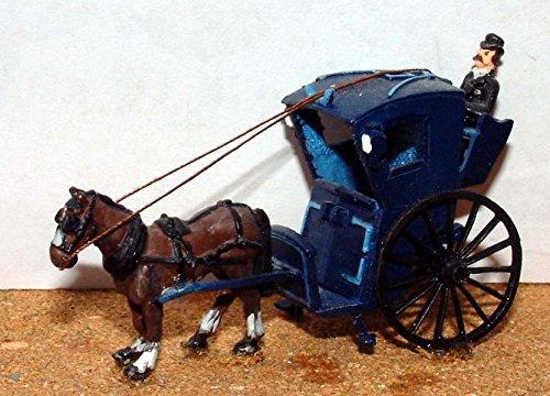 Langley Models Hansom Pferdekutsche Cab OO Skala UNLACKIERTE Metall Modellbausatz G10 (G10-skalen)