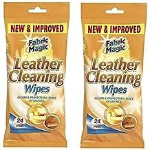 151productos 2X Toallitas para limpieza de cuero. 24unidades. LIMPIA + PROTEGE. SOFÁ, CANAPÉS, ASIENTOS DE COCHE, muebles