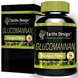Earths Design Glucomannan, Pure Konjac Root Fiber, Powerful Weight Loss Supplement, Natural Appetite Suppressant and Fat Burner, Supports Digestive Health and Regularity, Made in the UK - 90 Capsules