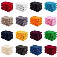 EllaTex 4er Pack Gästetücher/Gästehandtücher 30x50 cm 100% Baumwolle - 500 Gr/m², in Farbe: Türkis
