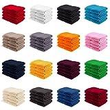 4er PACK EllaTex Gästetücher / Gästehandtücher 30x50 cm 100% Baumwolle - 500 Gr/m², in Farbe: Brombeere