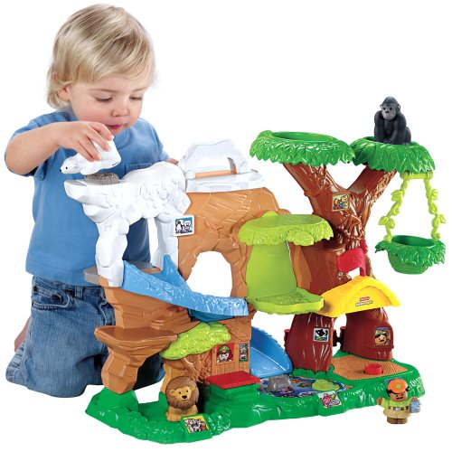 Image of Fisher-Price Little People Zoo Talkers Animal Sounds Zoo Playset