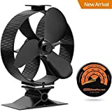 Smartstovefan 2017 New Fast Start Large Output Heat Powered Stove Fan GalaFire B630 with Gift Stove Thermometer