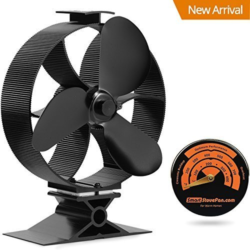 Aluminium-vent Pipe (2017 New Fast Start Large Output Heat Powered Stove Fan GalaFire B630 with Gift Stove Thermometer)