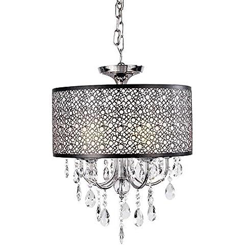 Rts MAX: 60W tradizionale/classico cristallo metallo Flush Mount camera da letto / sala da pranzo / sala studio/ufficio / corridoio