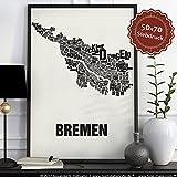 Bremen Buchstabenort Schwarz auf Naturweiß