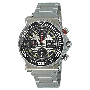 Nautec No Limit - H2 - Montre Homme - Automatique - Chronographe - Chronomètre - Bracelet Acier Inoxydable Argent