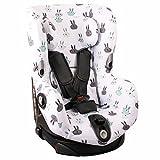 Housse de siège auto pour Maxi-Cosi Axiss – Blanc avec des lapins