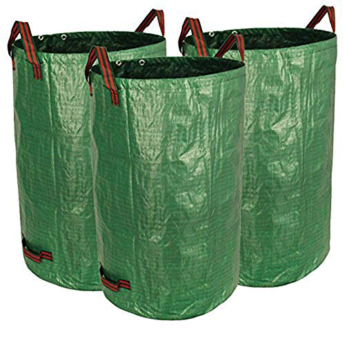 Star Supermarket 3 x Gartensack mit doppelter Bodenschicht - Wiederverwendbare robuste Gartenbeutel, Rasenbecken, Garten Laubabfallbeutel