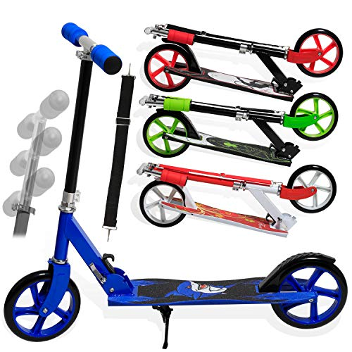 KESSER® Scooter Roller Kinderroller Cityroller Tretroller Kickroller Kickscooter Design / Farbe: Shark (Blue)