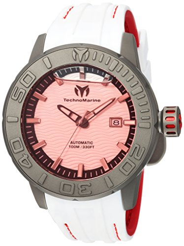 Technomarine Men's 'Reef' Automatic Titanium and Silicone Casual Watch, Color:Two Tone (Model: TM-516007)