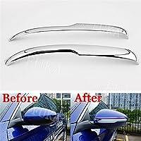 Odster 2pcs Chrome ABS Puerta ala Lado Espejo retrovisor Ajuste de la Cubierta Etiqueta Fit de