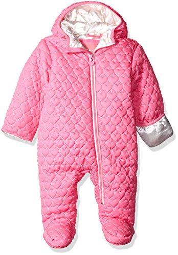 Wippette Baby Mädchen (0-24 Monate) Daunenjacke Schneeanzug, Einfarbig Gr. 9 Monate, rose (Quilted Bubble Jacket)
