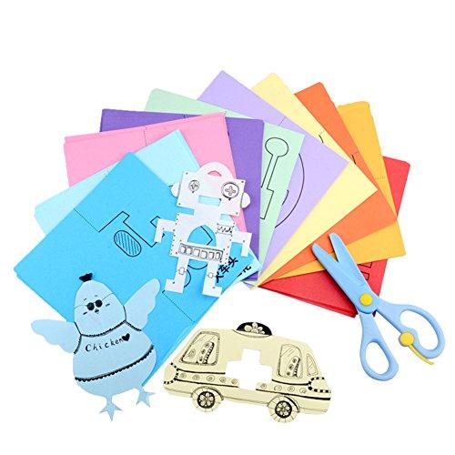 Kind Lernspielzeug, Chickwin Papier Toys Papierschnitt diy Spielzeug Painting toys Entwicklung Denken Pädagogische Spiele Toys Interessantes Spielzeug (Papierschneiden)