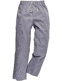 Chef pantalones de Bromley pantalones de cintura elástica 100% fiambrera con forma de botella cosas de algodón de trabajo, multicolor