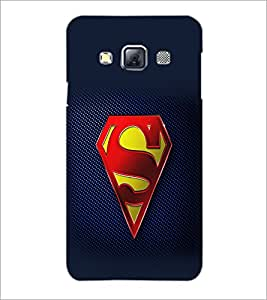 PrintDhaba Superman Logo D-2098 Back Case Cover for SAMSUNG GALAXY A3 (Multi-Coloured)