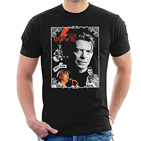 David Bowie 1947-2016 Tribute Men's T-Shirt