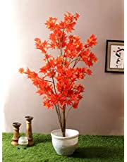 Fourwalls Decorative Polyester Artificial Japanese Maple Plant Without Pot