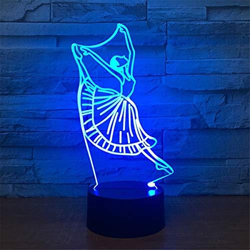 Lampe de table Touch Touch acrylique étrange 7 atmosphère de couleur Led Lampe de table 3D Night Light Girl Veilleuses