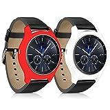 kwmobile 2in1: 2x Protezione per braccialetto per il fitness per Samsung Gear S3 Classic Dimensioni interiori: approssimative - Cover in silicone per sport watch senza tracker bianco rosso