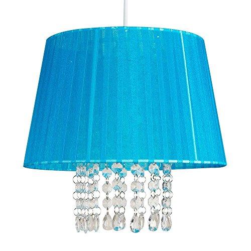 -hangeleuchte-kronleuchter-klassische-uno-lampenschirm-konisch-voile-krepp-stoff-blau-weich-verziert
